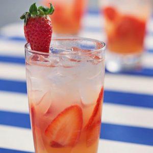gin fizz de fresa